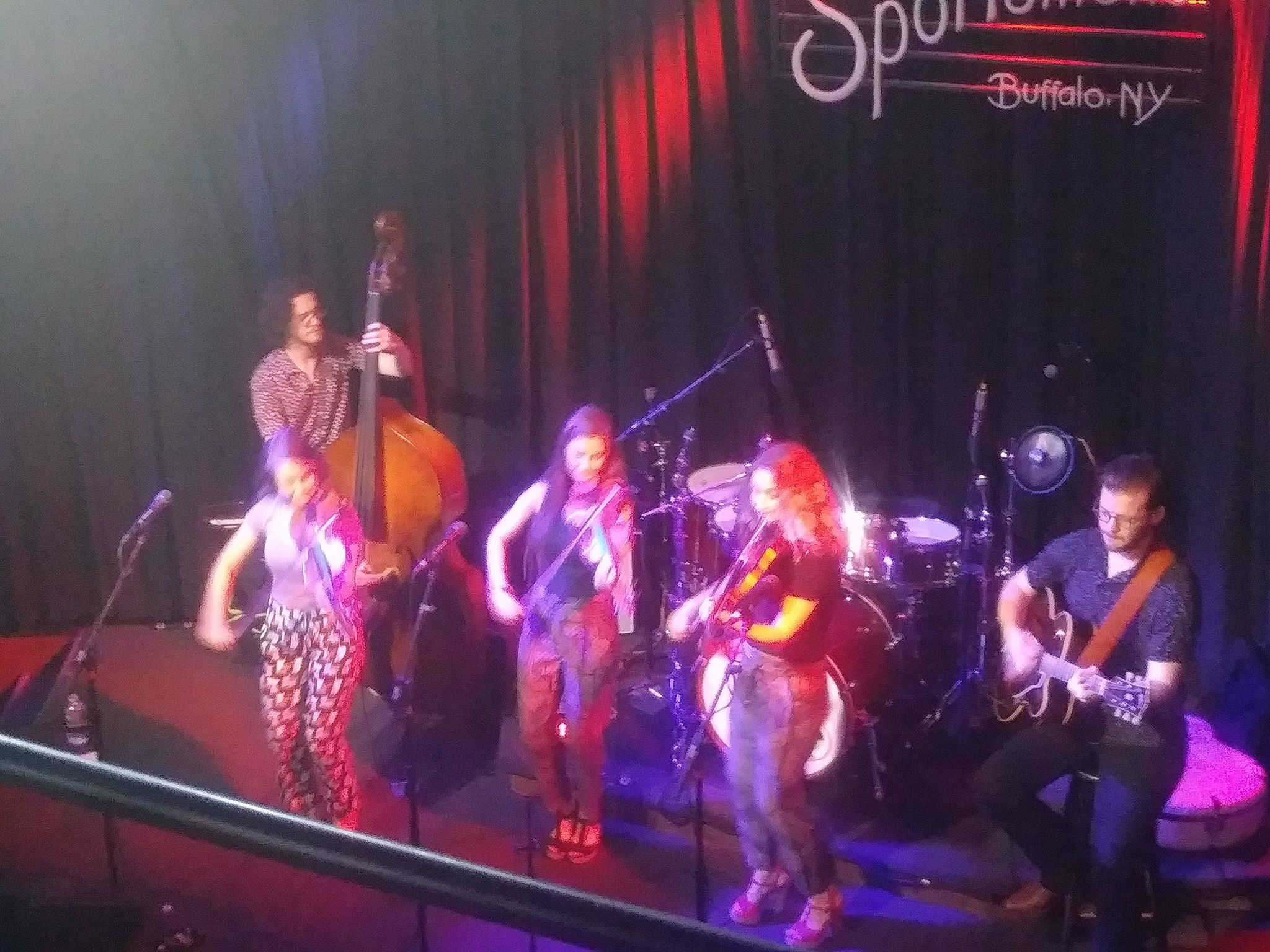 Angels alight in Black Rock: Quebe Sisters swing out at Sportsmen's