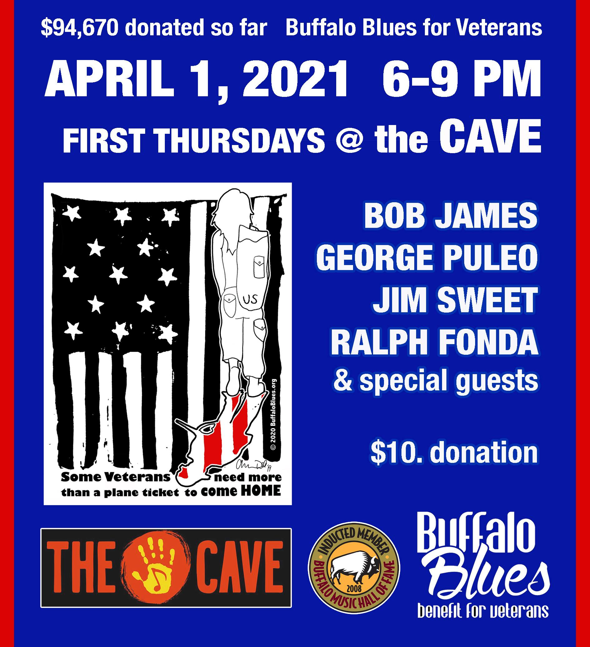 Buffalo Blues is back at the Cave on April 1